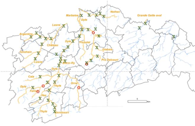 Cartographie de la présence du castor suite à l'inventaire hiver 2018-2019